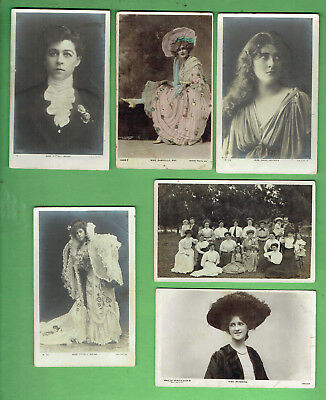 #d353.  #4.  Lot Of Six (6)  Women Fashion Postcards
