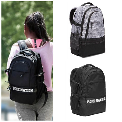 Victoria's Secret NWT 2017/2018 Pink Nation Collegiate Backpack Gray or Black