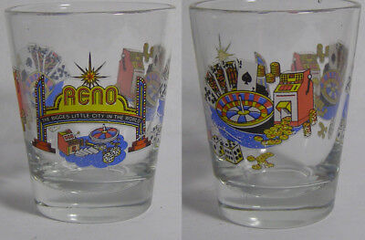 Reno The Biggest Little City In The World Shot Glass #2977