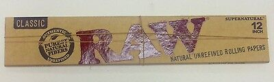 Classic Raw 12 Inch Cigarette Papers 1 Pack Natural Unrefined Rolling Papers