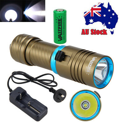 Waterproof Diving 10000LM XML T6 LED Scuba Flashlight Torch 26650 Light Charger