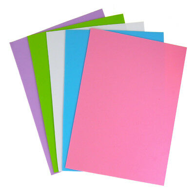 Pastel Assorted Plain EVA Foam Sheet, 11-1/2-Inch x 8-1/2-Inch, 5-Piece