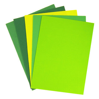 Greens Assorted Plain EVA Foam Sheet, 11-1/2-Inch x 8-1/2-Inch, 5-Piece