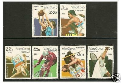 Laos - 1990 Olympic Games set - MNH - SG 1179/84