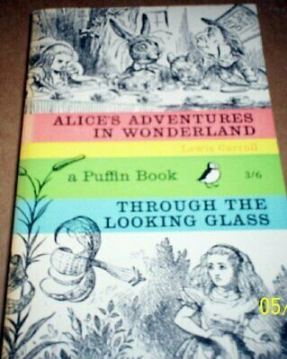 Alice in Wonderland & Through the Looking Glass by Lewis Carroll Paperback Book