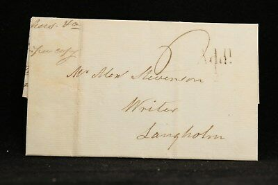 Scotland: Hawick>Langholm 1831 Stampless Cover, Add 1/2 Mail Tax