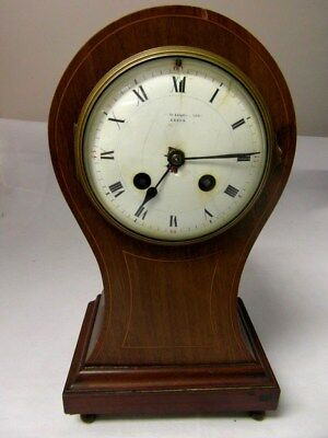 Vintage Baraclough & Sons Leeds Wooden Mantel Clock *SPARES REPAIRS RESTORATION*