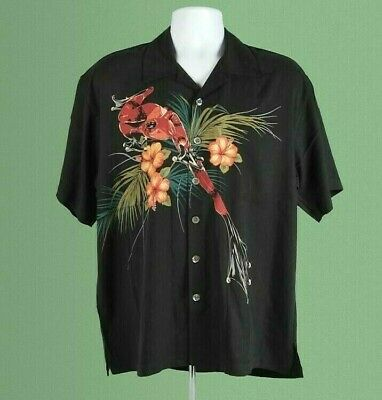 Tim Cotterill Silk Campshirt Stealth Black Hawaiian Style Shirt, Size S. Br. New