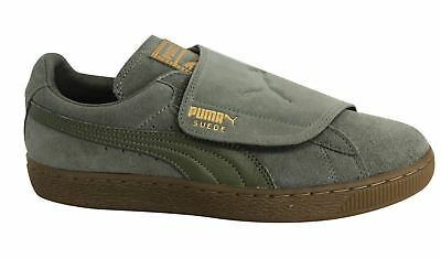 9af315ed15b Puma Suede Strap Up Wrap Gum Burnt Olive Leather Mens Trainers 364579 02 U97