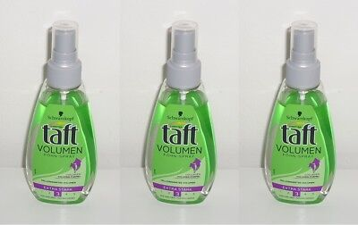 (1L=19,78€) 3x Drei Wetter Taft Volumen Föhn-Spray Föhnspray, 3x150ml