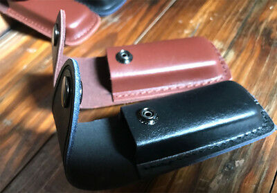 Leather Sheath For Folding Tools Pocket Knife New Pouch with belt loop Case HQ