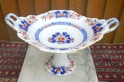 Antique Victorian Minton New Stone Imari Ironstone Two Handled Comporte~Tazza