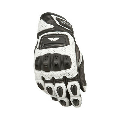 Fly Street ADULT Motorcycle FL2-S Gloves White Gloves Size Small