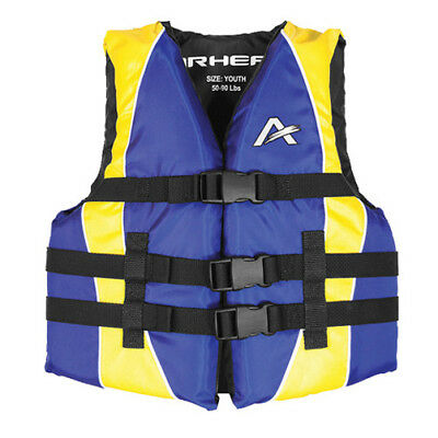 Airhead Youth Closed Sided Nylon Life Jacket Blue