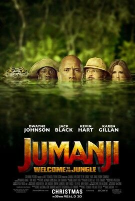 JUMANJI WELCOME TO THE JUNGLE 2017 Original DS 4x6' US Bus Shelter Movie Poster