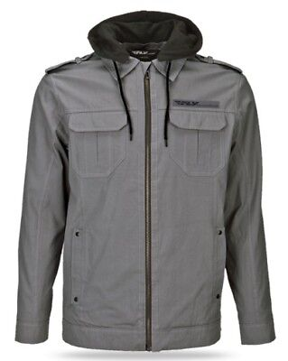 Fly Racing 2014 Adult Waxed Jacket Grey Coat Size Small SM