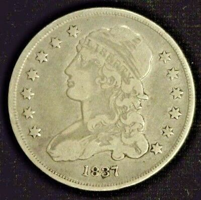 1837 Capped Bust Silver Quarter F/vf Damage                      (4710)