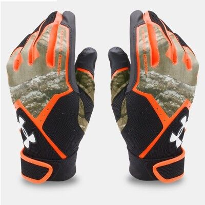 Under Armour CLEAN UP Batting Gloves REALTREE CAMO 1291214 915 Youth MEDIUM