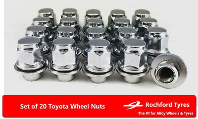 Mk2 Locking Wheel Nuts 12x1.5 Bolts Tapered for Toyota Yaris 05-11
