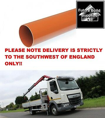 """110mm  4"""" Plain End underground Drainage Pipe 3 metre or 6 metre Lengths"""