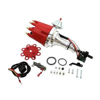Small Block Ford Pro Series Ready to Run Red Cap Electronic Distributor 289 302