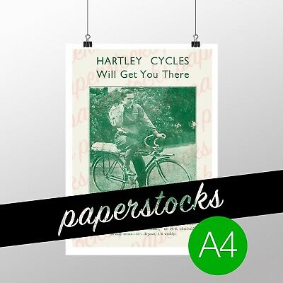 c.1920's HARTLEY BROS. BICYCLES MELBOURNE PROMO A4 PRINT HISTORICAL CYCLES
