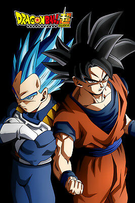 dragon ball super poster vegeta and goku ultra 12inches x 18inches