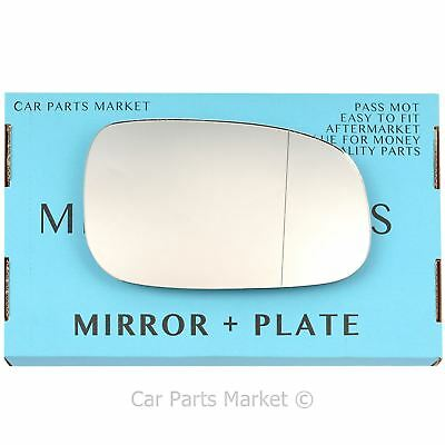 Right Driver side Wide Angle Wing mirror glass for Volvo s40 2009-12 Heated