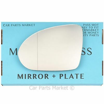 Left side Wide Angle Wing door mirror glass for Smart Forfour 2004-2006 +plate