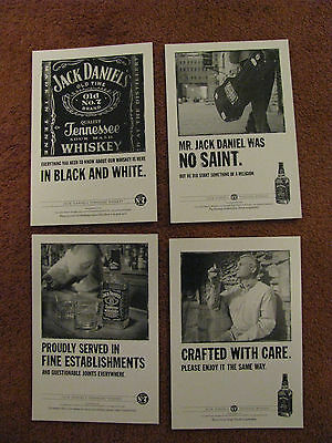 100 NEW & UNUSED picture postcards JACK DANIELS  4 designs  competition entry