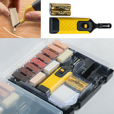 19pc Laminate Flooring Worktop Repair Kit Wax System Sturdy Case Chips Scratches