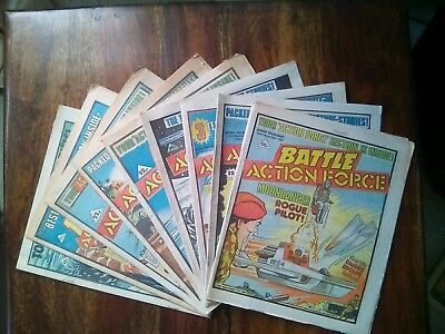 9 Battle Action Force Comics  Assorted issues from 1984 (Free P&P)