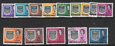 Northern Rhodesia Sg75/88 1963 Definitives Fine Used