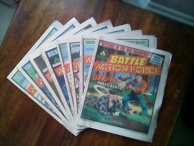 8 Battle Action Force Comics  Assorted issues from 1985 (Free P&P)