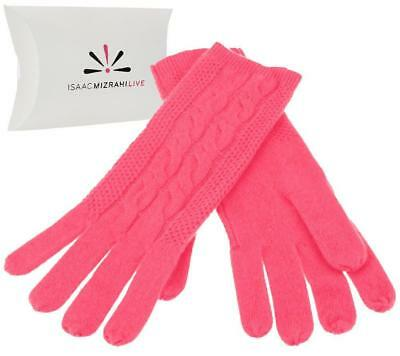 Isaac Mizrahi Live 2-Ply 100% Cashmere Gloves w/Gift Box Size & Color Choice