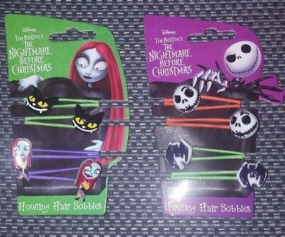 Disney Tim Burton Nightmare Before Christmas Howling Hair Bobbles Jack or Sally