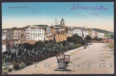 IMPERIA BORDIGHERA 65 Cartolina 1924