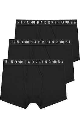 Mens 3 Pack Badrhino Elasticated A Front Boxers Extra Large L To 8xl