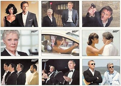 James Bond Archives Quantum Of Solace Movie 2015 Rittenhouse Base Card Set Of 90