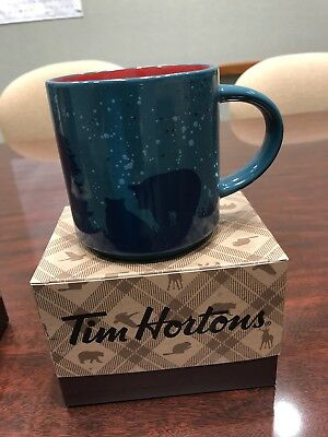 LAST ONE New 2017 TIM HORTON CHRISTMAS COFFEE MUG BEAR RARE