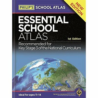 Philip's Essential School Atlas  - Paperback NEW  04/07/2016