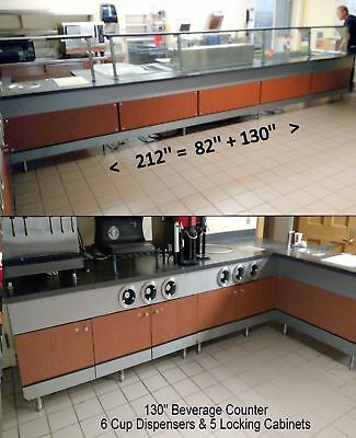28' DELI BUFFET SERVING LINE Hot Cold Equipment & Cabinets Beverage Counter
