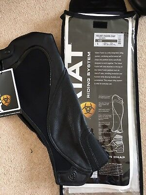 Ariat Volant Fusion Chaps Black Medium Tall