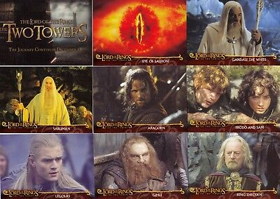 Lord Of The Rings Two Towers Movie 2002 Cadbury Factory Card Set C1 - C20 Base