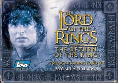 Lord Of The Rings Return King Movie Partial Trilogy Factory Card Set 59/60 Base