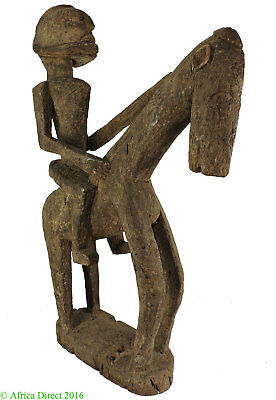 Dogon Horse and Rider Mali African 32 Inch