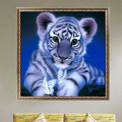 CO_ Full Drill Tiger 5D Diamond DIY Painting Craft Kit Home Wall Hanging Deco Ex