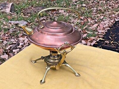 Rare W.a.s. Benson Arts & Crafts..aesthetic Period Teapot Stand And Burner, 1900