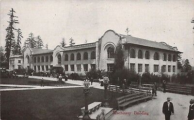 1909 Alaska Yukon Pacific Expo, The Machinery Building,  Old Postcard