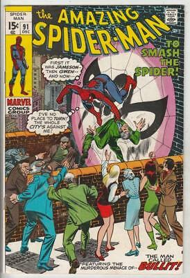 Amazing Spider-Man  # 91  strict  VF+  appearance  Captain Stacy, Gwen's Dad!